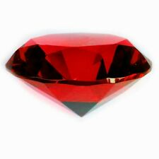 40mm Red Crystal Diamond Shape Paperweight Glass Gem Display Gift Ornament