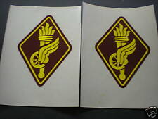 US ARMY  - M1 HELMET DECALS - TRANSPORT SCHOOL - 2X OLD