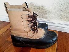 Sorel Mens Boots size 8 beige black