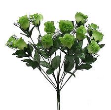 14 Long Stem Roses ~ SAGE GREEN~ Silk Wedding Flowers Centerpieces Bouquets DIY