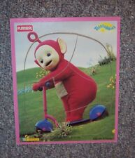 Vintage TELETUBBIES WOOD FRAME TRAY WOODEN PUZZLE PLAYSKOOL RED PO Scooter