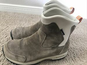 MERRELL Tundra Womens Waterproof Taupe Suede Polartec Thinsulate Boots Size 7.5