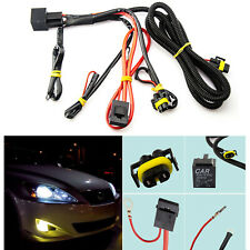 1x H11 880 Relay Wiring Harness HID Conversion Retrofit Kit Add-On Fog Light DRL