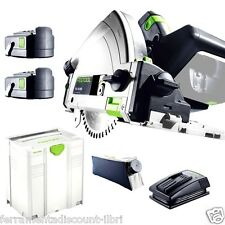 PLUNGE CUT CIRCULAR SAW CORDLESS FESTOOL TSC 55 REB PLUS LI 561712 festo tools