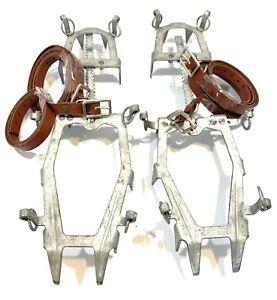 Original Vintage Salewa DBP R2 12-Point Crampons Hinging Adjustable Ice Cleats