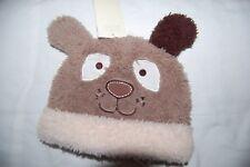 George Brown Fleece Dog Hat   Age 3-6 Months BNWT