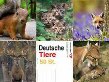 50-er Set Tierpostkarten / Ansichtskarten Tiere, 5 Motive á 10 Postkarten