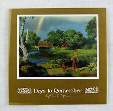 Vintage 1970's Paul Detlefsen Days to Remember Color Foil Etch Fold Out Card