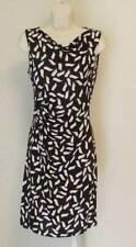 Diane von Furstenberg Glasmary Snake Flutter Warm dust 10 shift dress black tan