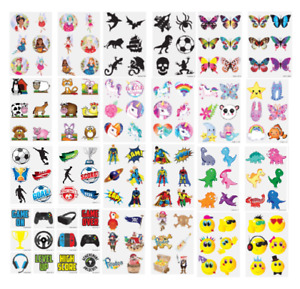 36 KIDS TEMPORARY TATTOOS Childrens Girls Boys Novelty Party Loot Bag Fillers