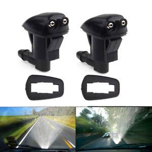 2pcs Universal Black Auto Car Front Windshield Washer Wiper Spray Nozzle Set Hot