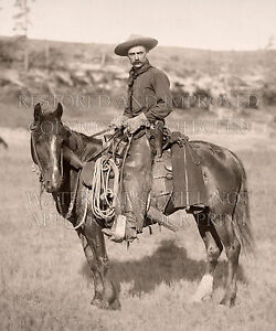 20x24-inch photo The Cow Boy by John Grabill 1887, cowboy, Dakota Territory, SD