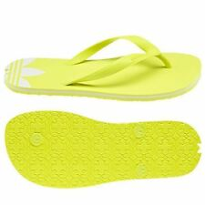 adidas Adisun Womens Yellow Synthetic Casual Flip Flops Slip-on Genuine Shoes 6 UK