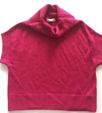 COLDWATER CREEK XS Fuchsia Pink Sweater Wool Blend Crop