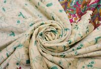 100% Pure Crepe Silk Vintage Sari Remnant Scrap Fabric for Sewing Craft Indian