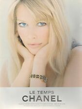 ▬► PUBLICITE ADVERTISING AD MONTRE WATCH Claudia Schiffer Le temps CHANEL 1994