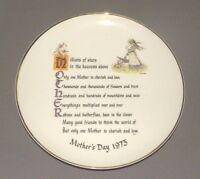 Holly Hobbie Commemorative Edition Mothers Day 1973 Plate Porcelain 10.5""