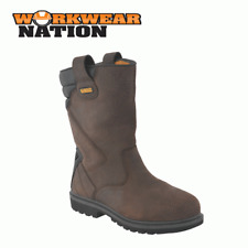 New Dewalt Rigger 2 Leather Workwear Dealer Shoe Boot Steel Toe Cap Brown
