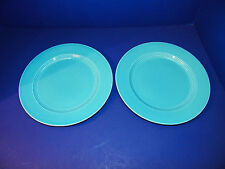 Vintage Homer Laughlin Harlequin Fiesta Dinner Luncheon Plates 2 Turquoise