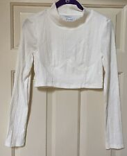 Sabo skirt Kayla Crop Top, white, size 4