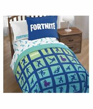 Fortnite Bedding Set Boys Twin Full Comforter Bed Room Reversible Plush Included