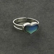 Adjustable Vintage Changing Color Heart Shaped Feeling Mood Ring Temperature
