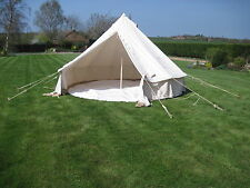 5M CANVAS BELL TENT BUSHCRAFT CAMPING SCOUT GROUNDSHEET GLAMPING  COOL CAMPING