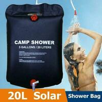 20L Solar Shower Bag Camping Hiking Bathing Heating Camping Outdoor Bag C9D3