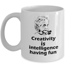 Physics Albert Einstein quote Science mug Creativity is intelligence having fun