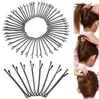 60Pcs Invisible Flat Top Waved Bobby Pins Grips Hair Clips Salon Barrette