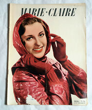Vintage 1939 MARIE CLAIRE magazine - Issue November 3 - French Fashion WWII