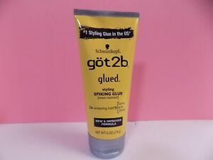 GOT2B GLUED STYLING SPIKING GLUE 6oz WATER-RESISTANT SCREAMING HOLD #4 HAIR