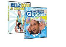Dvd CHECCO ZALONE SOLE A CATINELLE / QUO VADO? ......NUOVO