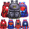 3D Boy School Bag Cartoon Spiderman Backpack America Captain Rucksack Girl Kids