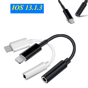 For iPhone X 11 XS XR IOS to 3.5mm AUX Headphone Jack Audio Cable Adapter