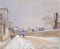 Alfred Sisley Winter Giclee Canvas Print Paintings Poster Reproduction
