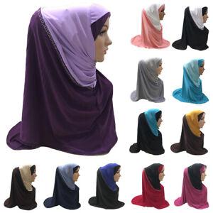 One Piece Amira Muslim Women Hijab Instant Scarf Pull On Ready Shawls Head Cover