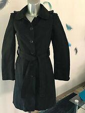 trench coat coton noir COMPTOIR DES COTONNIERS taille 36 fr 40i  EXCELLENT ETAT