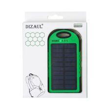 Solar Charger,Dizaul 5000mAh Portable Solar Power Bank Waterproof/Shockproof A01