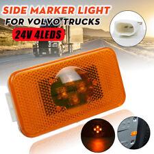 24V Amber LED Indicator Light Side Marker Lamp E2 For Volvo Trucks FH/ FM/ FL