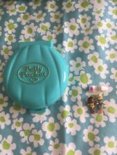 POLLY POCKET 1989 Beach Party *COMPLETE w/GOLD LOGO