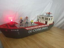 Playmobil Cargo Ship Boat Titan 4472 Geobra CARGO Conlines with Figures