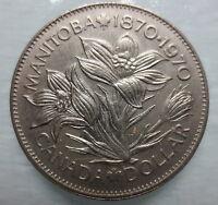 CANADA 1970 MANITOBA CENTENNIAL NICKEL DOLLAR COIN - CC09