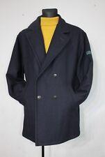 Vtg FALCON Garments PeaCoat Wool Mens Dark Navy coat Jacket Retro Size 56