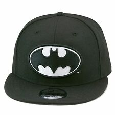 New Era Batman Snapback Hat Cap All BLACK/WHITE dc comics