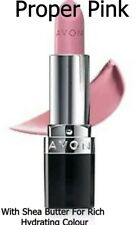AVON True Colour Lipstick * PROPER PINK *  shea butter for rich hydrating colour