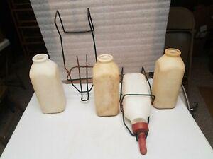 4 Baby Calf Milk Bottles & 2 Hangers