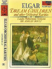 ELGAR LONDON PHIL ADRIAN BOULT DREAM CHILDREN CASSETTE ALBUM emi cfp  + RARITIES