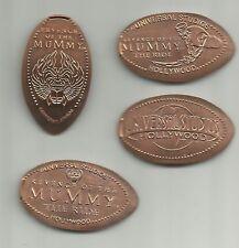 4 copper elongated pennies (cents) Universal Studios (Ca) Mummy The Ride m#2