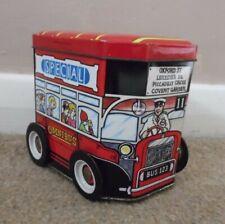 Vintage 1970s London Omnibus Tin moving wheels 10 x 11.5cms